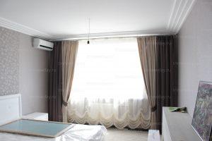 Австрийская штора в спальную