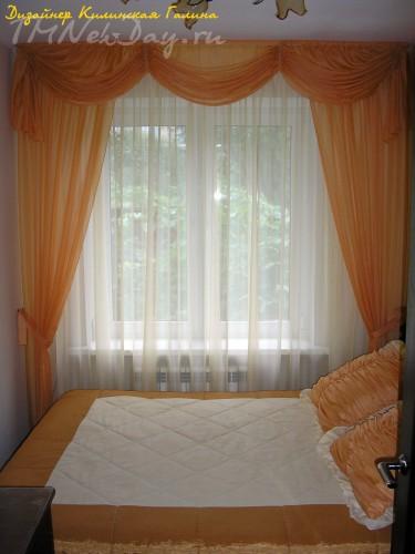 Авторский ламбрекен по типу австрийской шторы