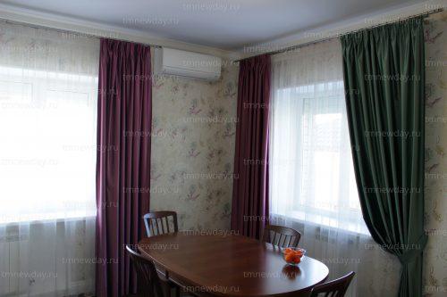 Дизайн шторы на кухне