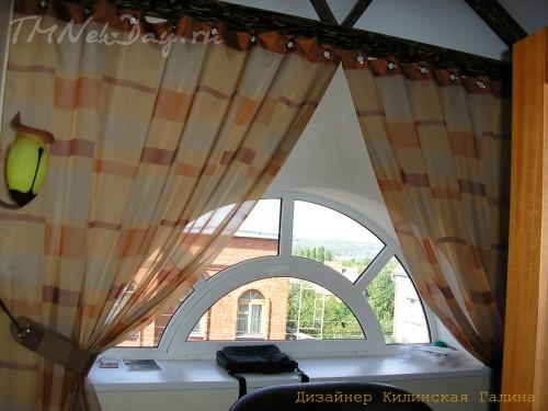 Авторские шторы на люверсах со шнуром (2)