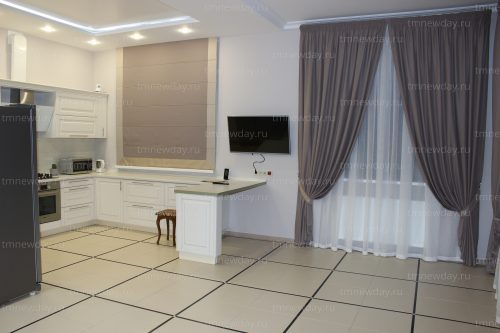 Дизайн штор на кухне