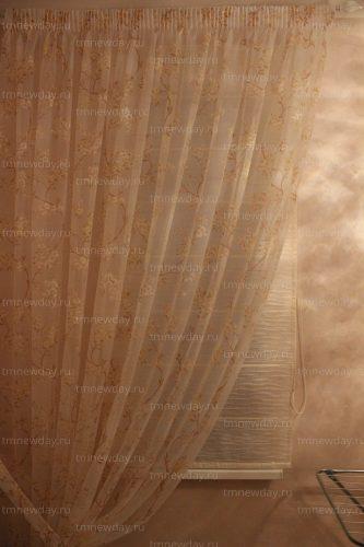 Римская штора с декоративным тюлем