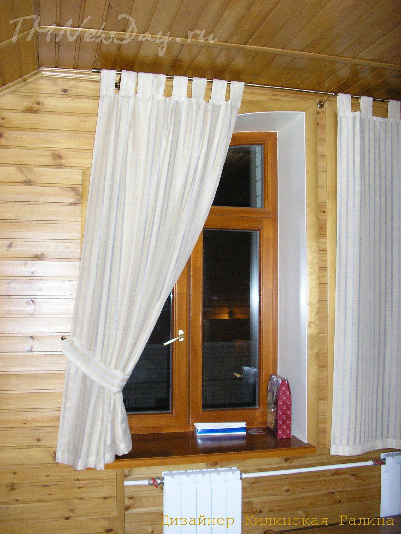 Шьем шторы на петлях 105