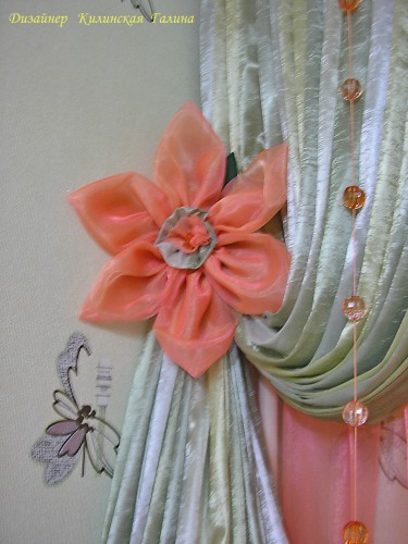 Декоративный подхват-цветок (2)