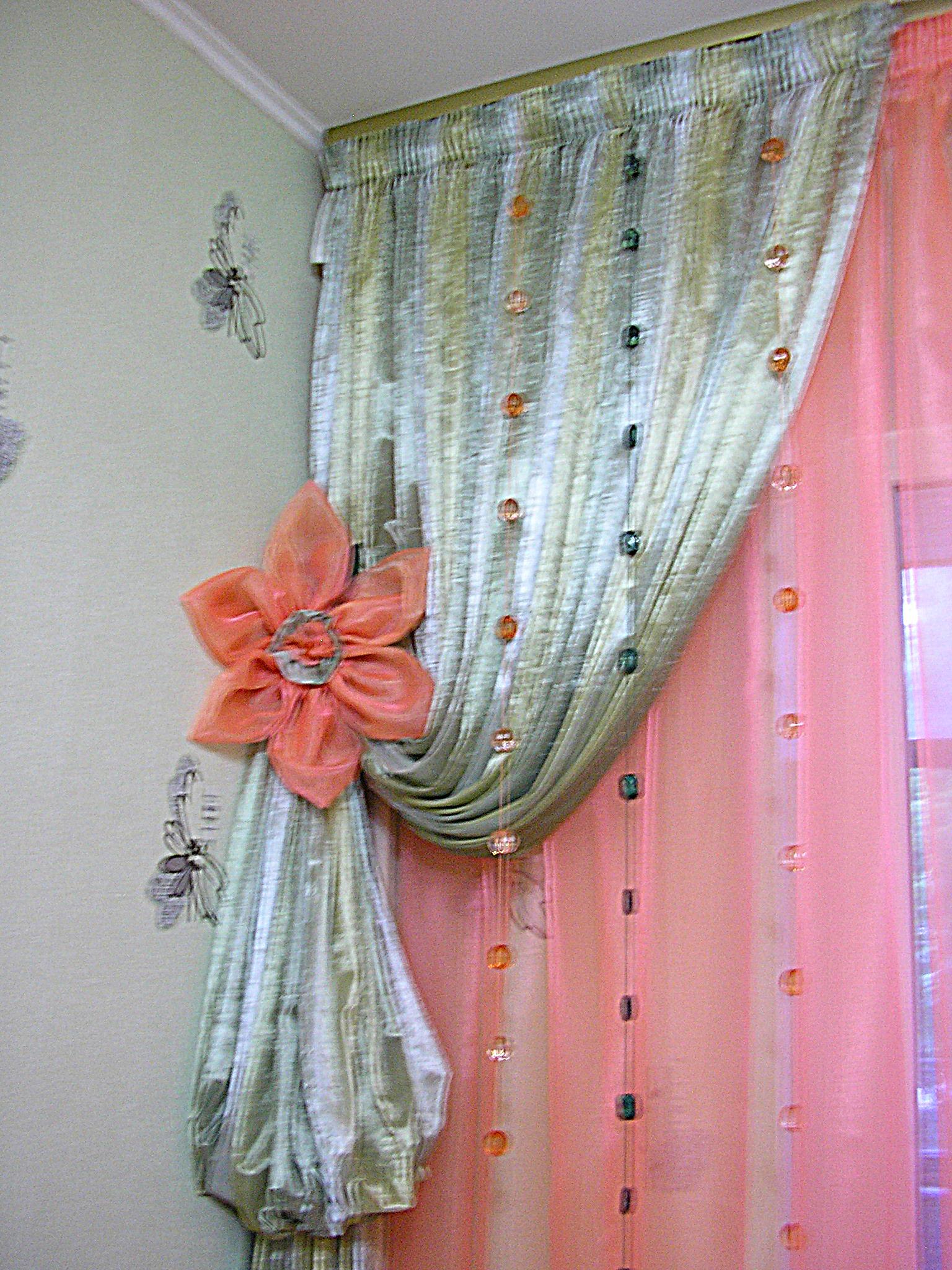 Как оригинально украсить шторы своими руками? (20 фото) 82