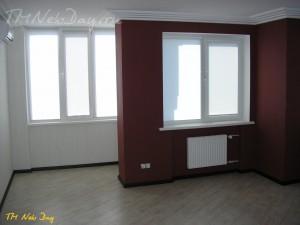 Кассетные рулонные шторы в зале