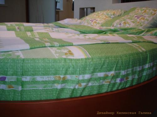 Комплект постельного белья на круглую кровать