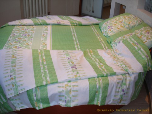 Комплект постельного белья на круглую кровать (2)