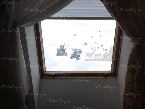 Штора плиссе мансардные окна