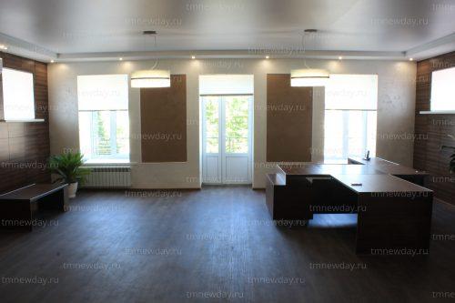 Оформление кабинета шторы плиссе