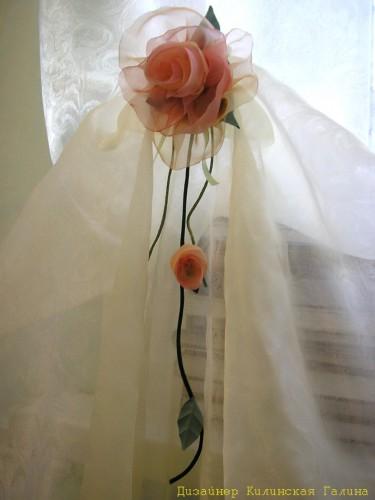 Авторский подхват - цветок из ткани