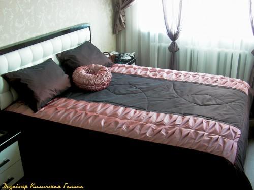 Сложное комбинированное покрывало с авторской подушкой (3)