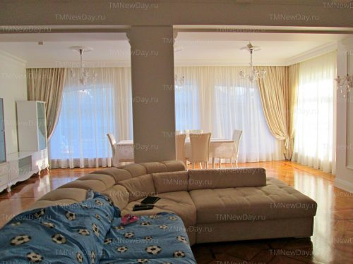 Оформление зала шторами дом
