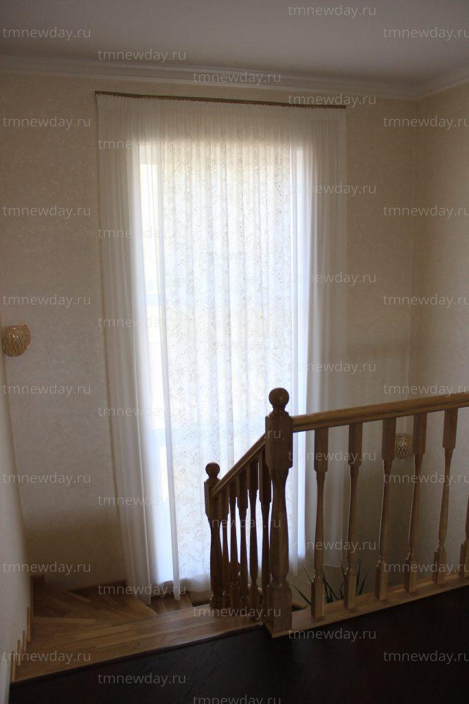 Штора на заказ высокое окно